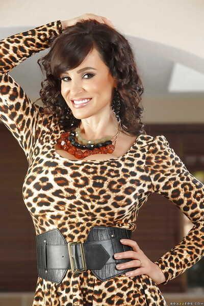 Glamorous of age brunette Lisa Ann shows her tall shape