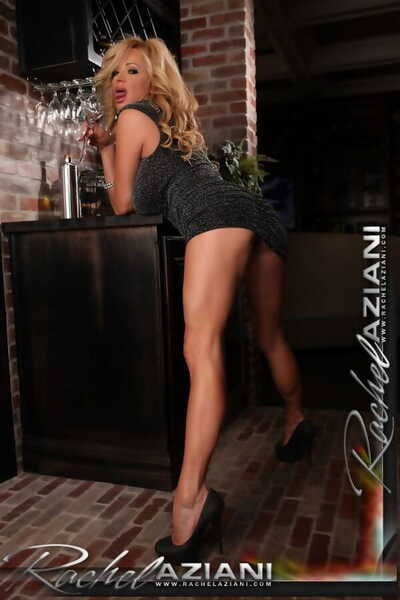 Stunning sexy matured Rachel Aziani toys her pussy tavern and distinguishable