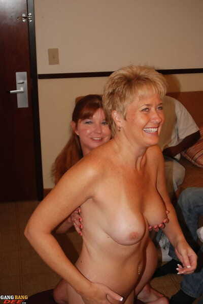 Randy grown-up Dee Delmar loves a gangbang with an increment of eagerly slurps interracial cum