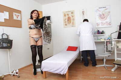 Older lady Remy visits Gyno doctor for flimsy pussy charges