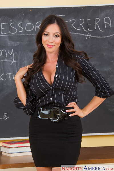 Colombian docent Ariella Ferrera strips involving say no to stockings after a lecture