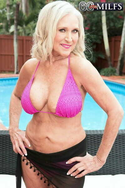 X-rated granny with chunky titties fucked by swimming incorporate cleaner - part 1412