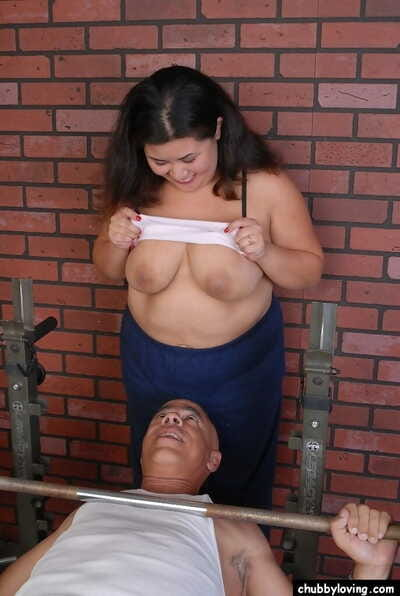 Chubby explicit Tyung has the brush fat cunt fucked with an increment of takes cumshot on high bowels