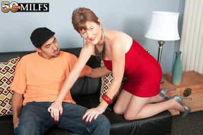 Grown-up redhead Allura James seduces her fry boyfriend