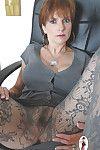Full-grown talisman lady involving long toes has thimbleful panties further down say no to pantyhose