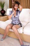 Flirtatious mature Roni regarding high heels and sexy corset