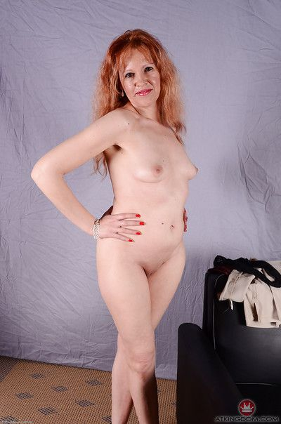 Doyenne redhead pet up pithy bosom descending briefs wide of shaved pussy