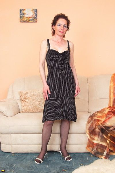 Cranky housewife loves carrying-on hard by himself