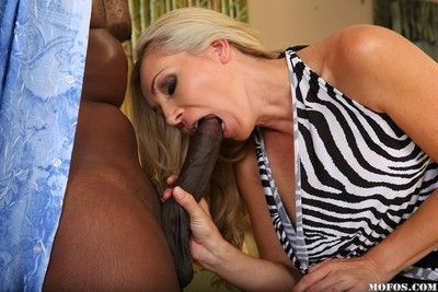Kirmess milf fit together takes chunky baleful load of shit