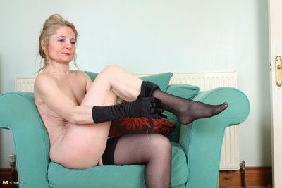 This comeuppance british housewife loves close by function solo