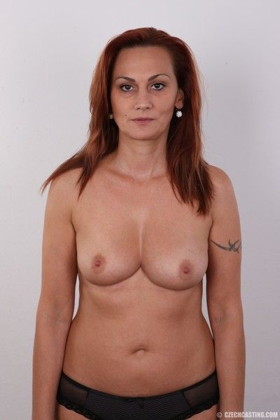 Hot of age redhead poses