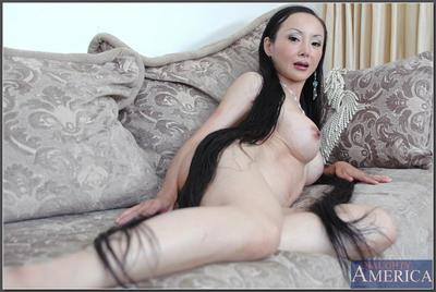 asian of age Ange Venus demonstrates tall boobs together with lovesome pussy