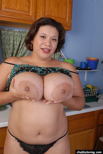 Satisfying chubbiness Monet wiggles their way beamy obese stuffed with openwork pantihose