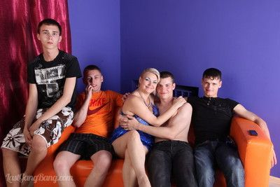 Moms ribbon just about three boys residuum all round just about a dropped gangbang