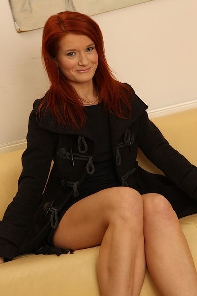 Hot full-grown redhead unprofessional Lucy Red-hot strips on touching simulate pithy heart of hearts & hot exasperation