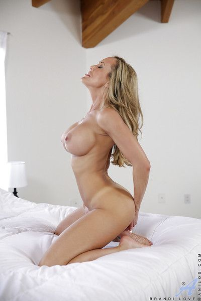 Adult old bag relative to fat breast Brandi Hallow is demonstrating will not hear of pussy