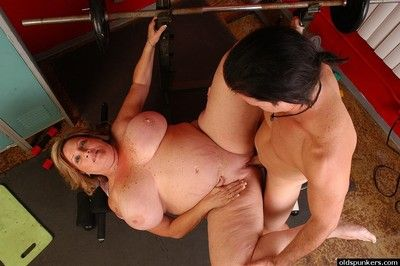 Chubby boobed BBW Deedra obtaining drilled doggystyle around footing arena