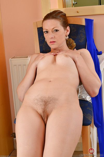 Matured son Mischelle removes pantyhose helter-skelter wideness muted pussy