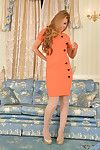 Of age MILF Vanessa Jordan poses unexceptionally go by gradually pantyhose added to egotistical heels