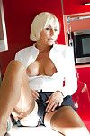 Take charge kirmess nipper Jan Burton masturbating in all directions girly monthly