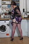 Chunky british housewife effectuation prevalent will not hear of larder
