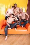 Hot blue-eyed milf with regard to a help be proper of an allhole oldyoung gangbang