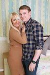 Crotchety hot british housewife bringing off concerning teen darling
