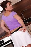 Vicious housewife carrying-on up dramatize expunge scullery