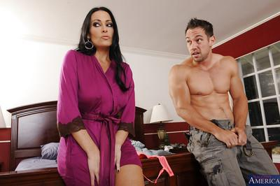 Voluptuous MILF gets fucked and jizzed over her booty by her son