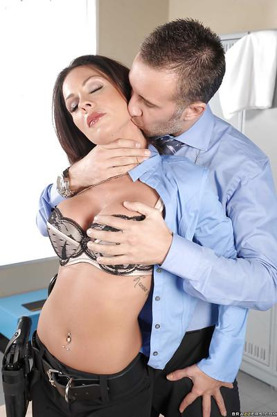 Bosomy MILF Kirsten Price sucks and fucks a big hard cock
