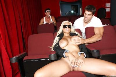 MILF pornstar Bridgette B gets two thick dicks for her eager cunt