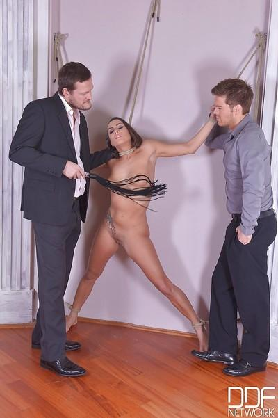 Milf Mea Melone gets nailed and tied hard in a hot BDSM clip