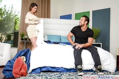 Buxom MILF wife Brooklyn Chase baring nice butt for hardcore sex in heels