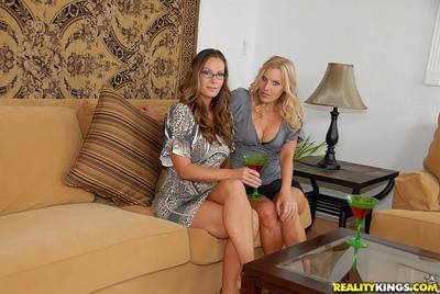Three gorgeous MILFs starting tempting lesbian action