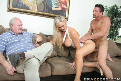 Fuzzy MILF gets shafted and takes a cumshot between her huge boobs