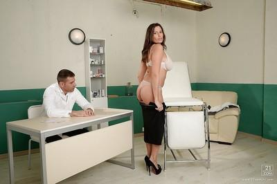 Ravishing MILF gets fucked by a hung doctor for cum on her big jugs