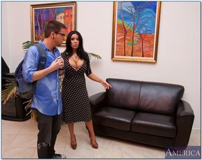 Luxurious latina MILF Sienna West getting her amazing boobs jizzed