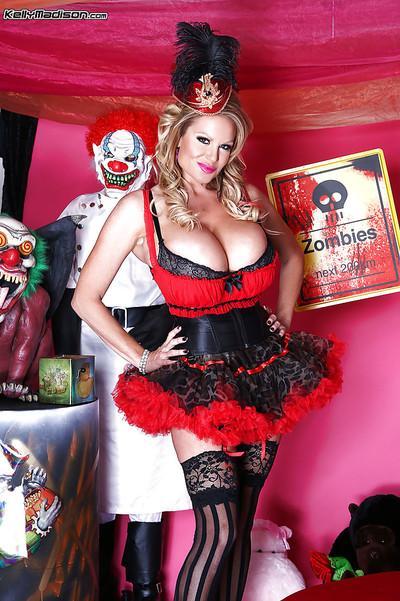 Milf blondie Kelly Madison is taking part in a cosplay sex scene