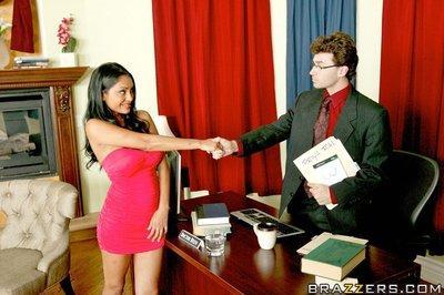 Indian MILF Priya Anjeli Rai has her cunt teased by a hot big cock