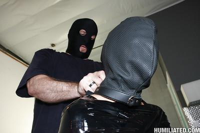MILF Jackie Daniels gets in bondage and is made to swallow bukkake