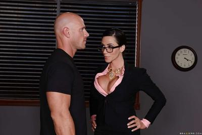 Sultry Latina milf with big tits Ariella Ferrera fucked in the office