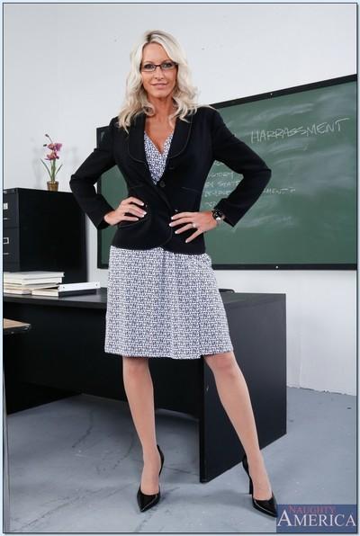 Emma Starr is busty milf teacher who