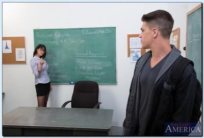 Busty teacher Eva Karera blows and fucks her student