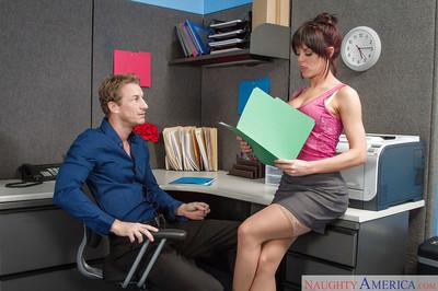 Secretary Rahyndee James was drilled in her face by lovely boss