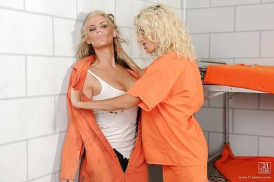 Big tits blonde milf Puma Swede teasing hot pussy of Phoenix Marie