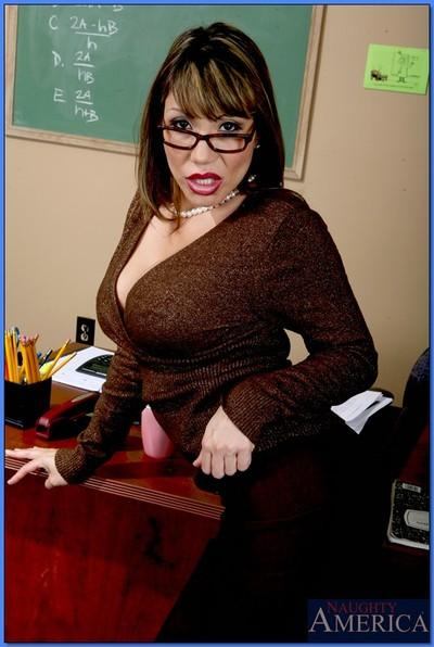 Asian MILF teacher Ava Devine denudes her assets and spreads pussy