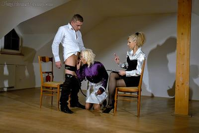 Daria Glower & Eliss Fire are into kinky pissing action with a horny guy