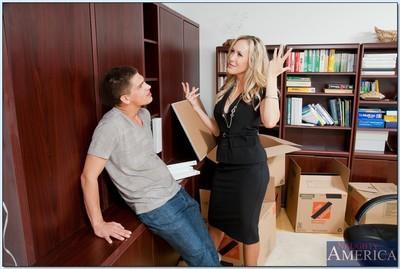 MILF teacher Brandi Love with big tits fucking a stiff boner