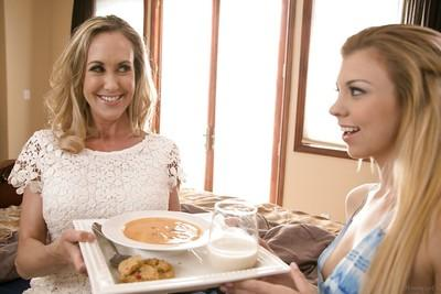 Teen Brandi Love and milf Tara Morgan in a hot lesbian scene!