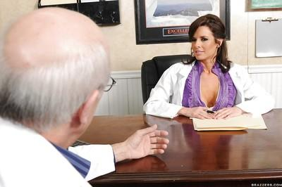 Hot MILF doctor with big boobs Veronica Avluv gets fucked in the ward